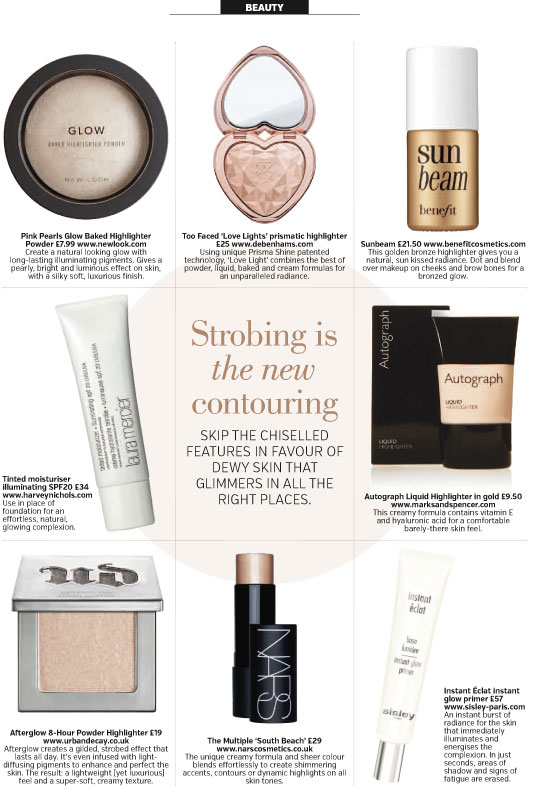 An RMC Media beauty column featuring 'strobing' products.