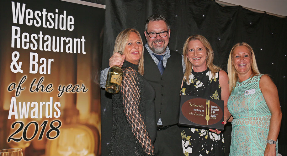 Westside Restaurant and Bar Awards 2018 The Peacock, Cutthorpe