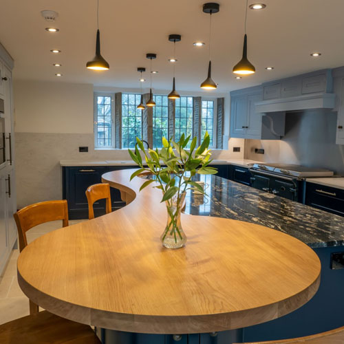Concept Interiors' bespoke curved kitchen islands thumbnail