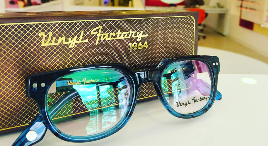 60s legend's glasses on sale at Sheffield opticians supporting image