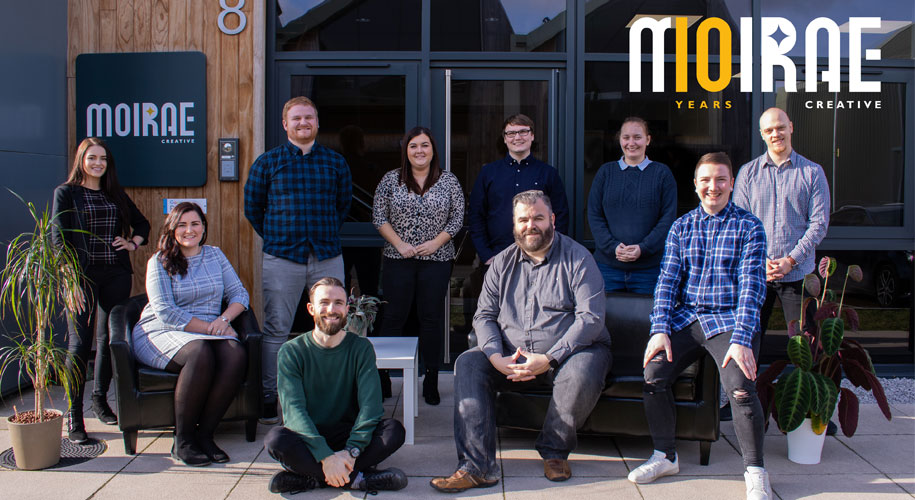 Moirae Creative marks 10 years in business supporting image