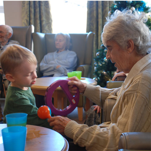 Elderly feel the benefit as youngsters visit Callywhite Care Home thumbnail