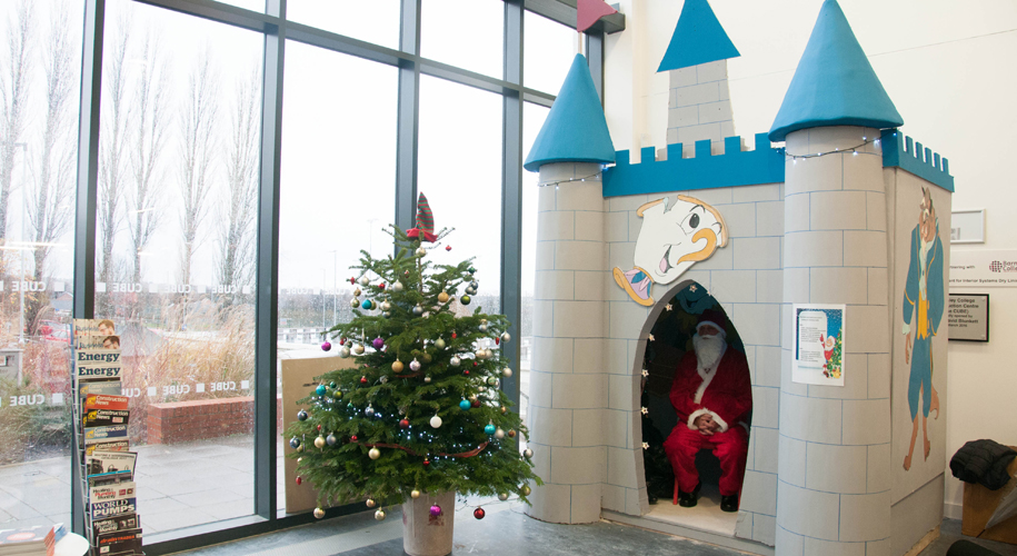 Primary school pupils visit Disney inspired Santa's grotto supporting image
