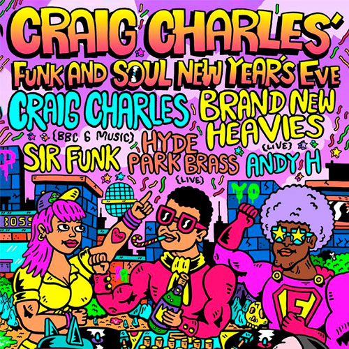 Win tickets to Craig Charles' funky NYE party at O2 Academy thumbnail