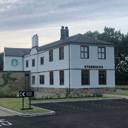 Drive-thru Starbucks opens today in 'haunted' former pub  Thumbnail