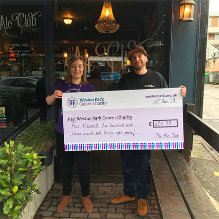 Sheffield micro pub raises over £4k for Weston Park Hospital supporting image