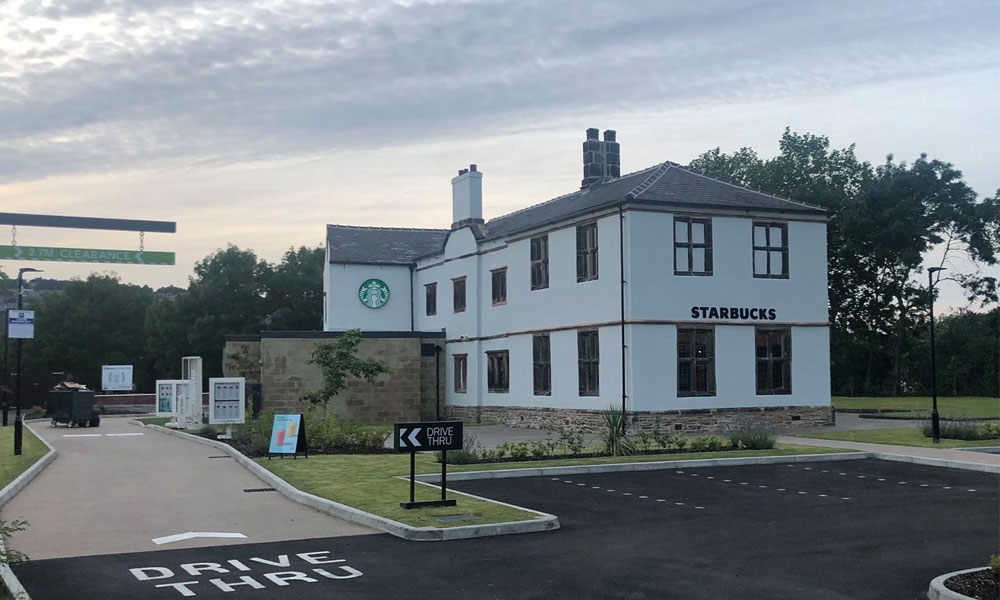 Drive-thru Starbucks opens today in 'haunted' former pub  supporting image