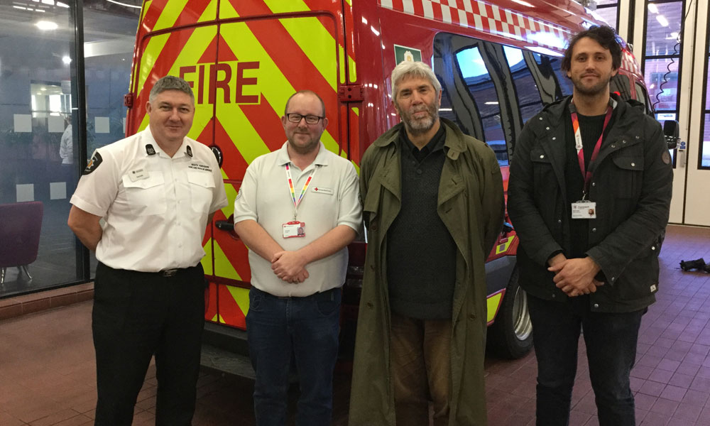 Sheffield fire service opens doors to rough sleepers supporting image