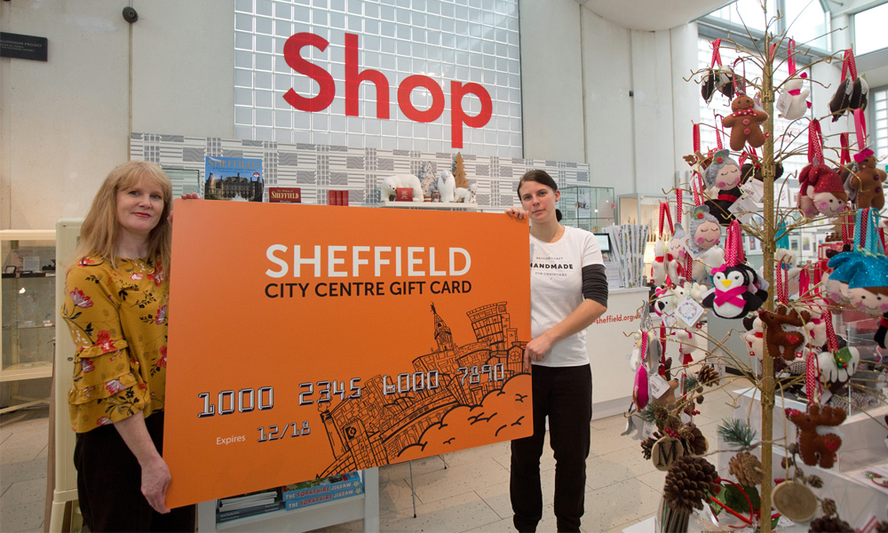 Sheffield city centre gift card launched supporting image