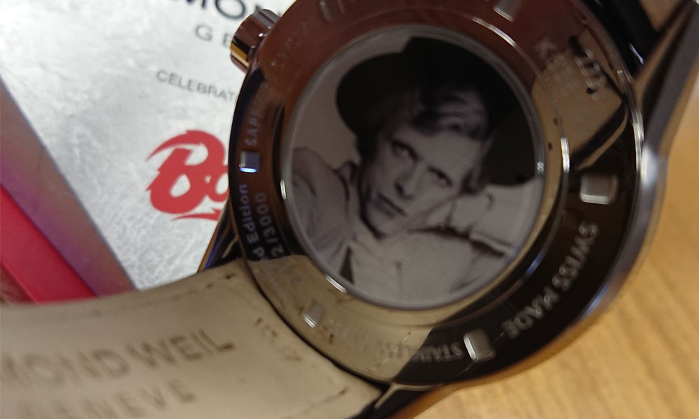 Rare Bowie watch on sale at Sheffield jewellers supporting image