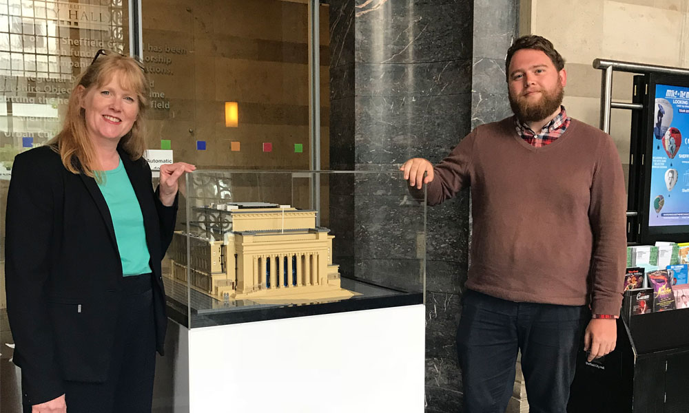 Sheffield City Hall LEGO model finds permanent home supporting image